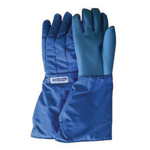 National Safety Apparel SaferGrip Size 10 Olefin And Polyester Lined Nylon Taslan And PTFE Mid-Arm Length Waterproof Cryogen Gloves With Straight Cuff
