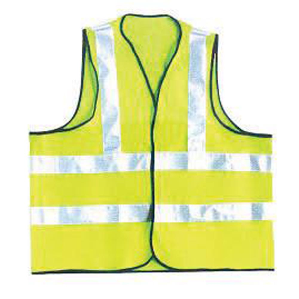 OccuNomix 3X Hi-Viz Yellow OccuLux Premium Light Weight Solid Cool Polyester Tricot Class 2 Dual Stripe Full Sleeveless Traffic Vest With Front Hook And Loop Closure And