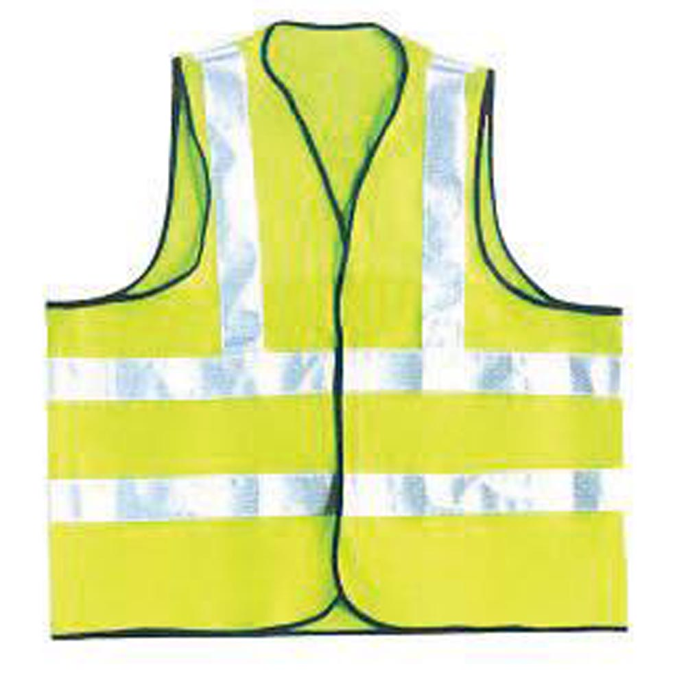 OccuNomix X-Large Hi-Viz Yellow OccuLux Premium Light Weight Solid Cool Polyester Tricot Class 2 Dual Stripe Full Sleeveless Traffic Vest With Front Hook And Loop Closure And