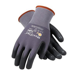 Protective Industrial Products 34-844/XL X-Large MaxiFlex Endurance by ATG 15 Gauge Abrasion Resistant Black Micro-Foam Nitrile Palm And Fingertip Coated Work Gloves With Gray Seamless Knit