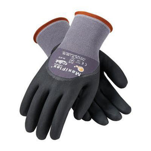 Protective Industrial Products Medium MaxiFlex Ultimate by ATG 15 Gauge Abrasion Resistant Black Micro-Foam Nitrile Palm, Finger And Knuckle Coated Work Gloves With Gray Seamless Knit Nylon And