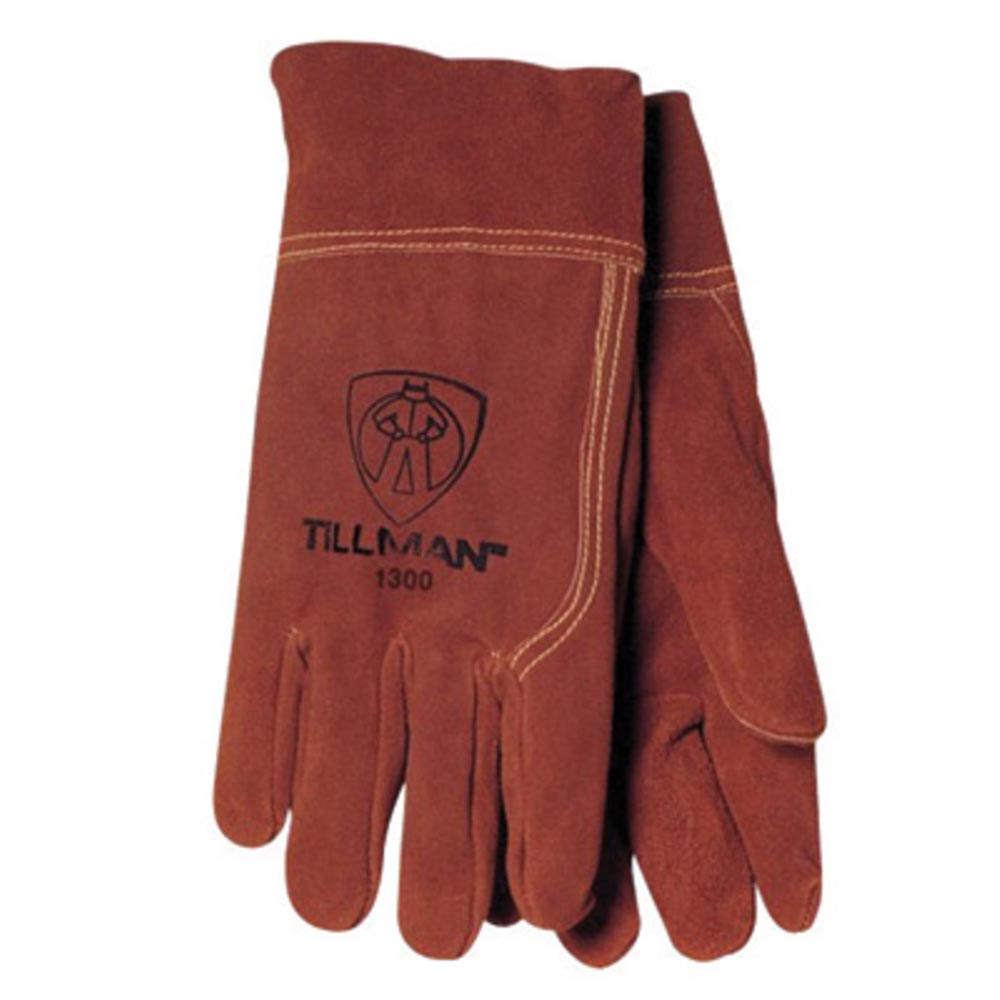 Tillman Medium Russet Brown Shoulder Split Cowhide Economy Grade Heavy Duty MIG Welders Gloves With Straight Thumb, 2