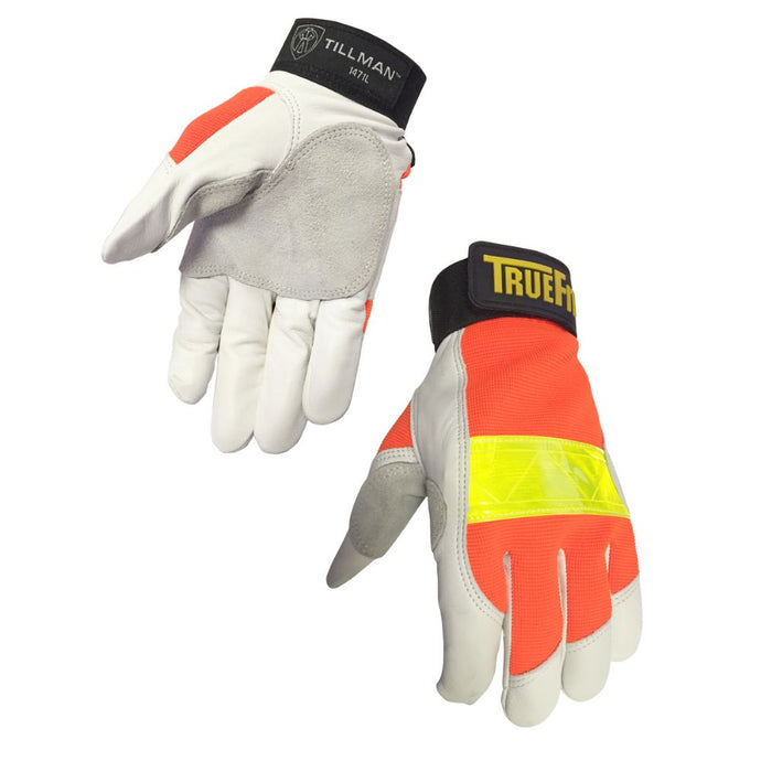 Tillman TrueFit Goatskin And Spandex Full Finger Mechanics Gloves With Elastic/Hook And Loop Cuff