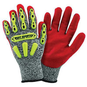 West Chester Large R2 FLX Cut Resistant Red Nitrile Dipped Palm Coated Work Gloves With Elastic Wrist