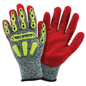 West Chester Medium R2 FLX Cut Resistant Red Nitrile Dipped Palm Coated Work Gloves With Elastic Wrist