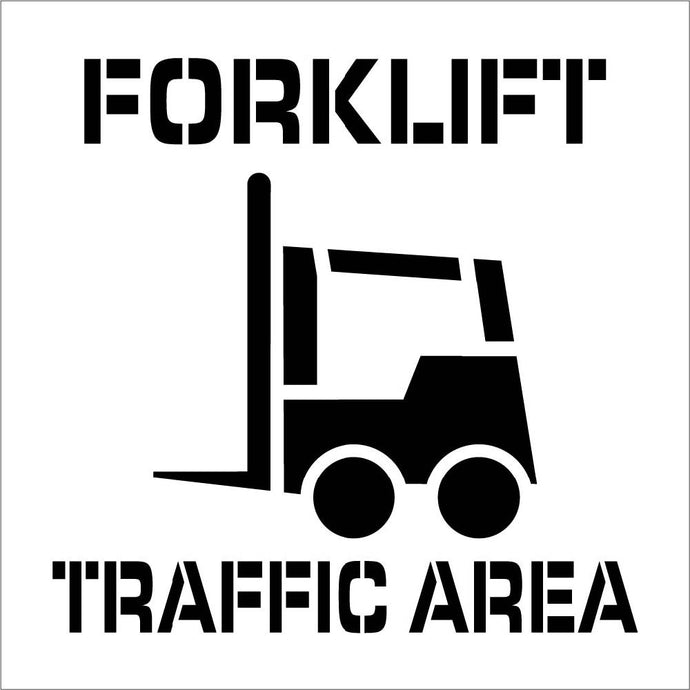 Forklift Traffic Area Plant Marking Stencil