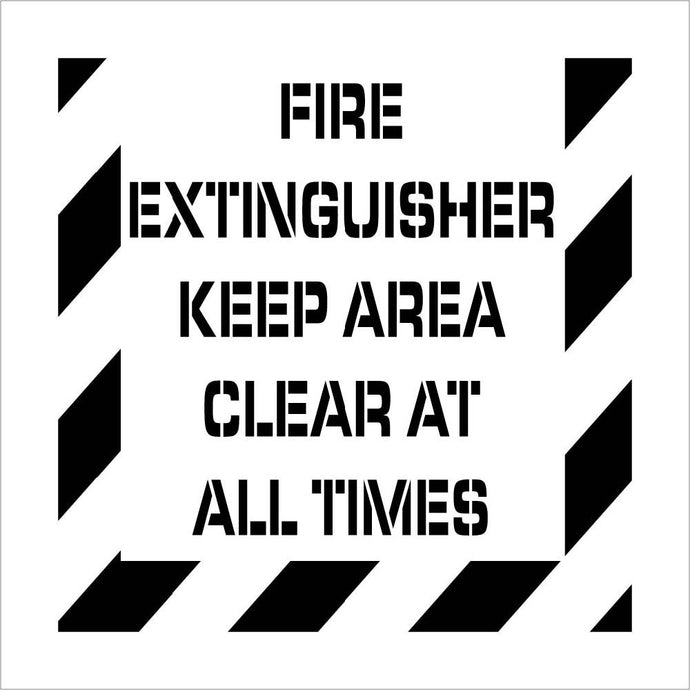 Fire Extinguisher  Plant Marking Stencil