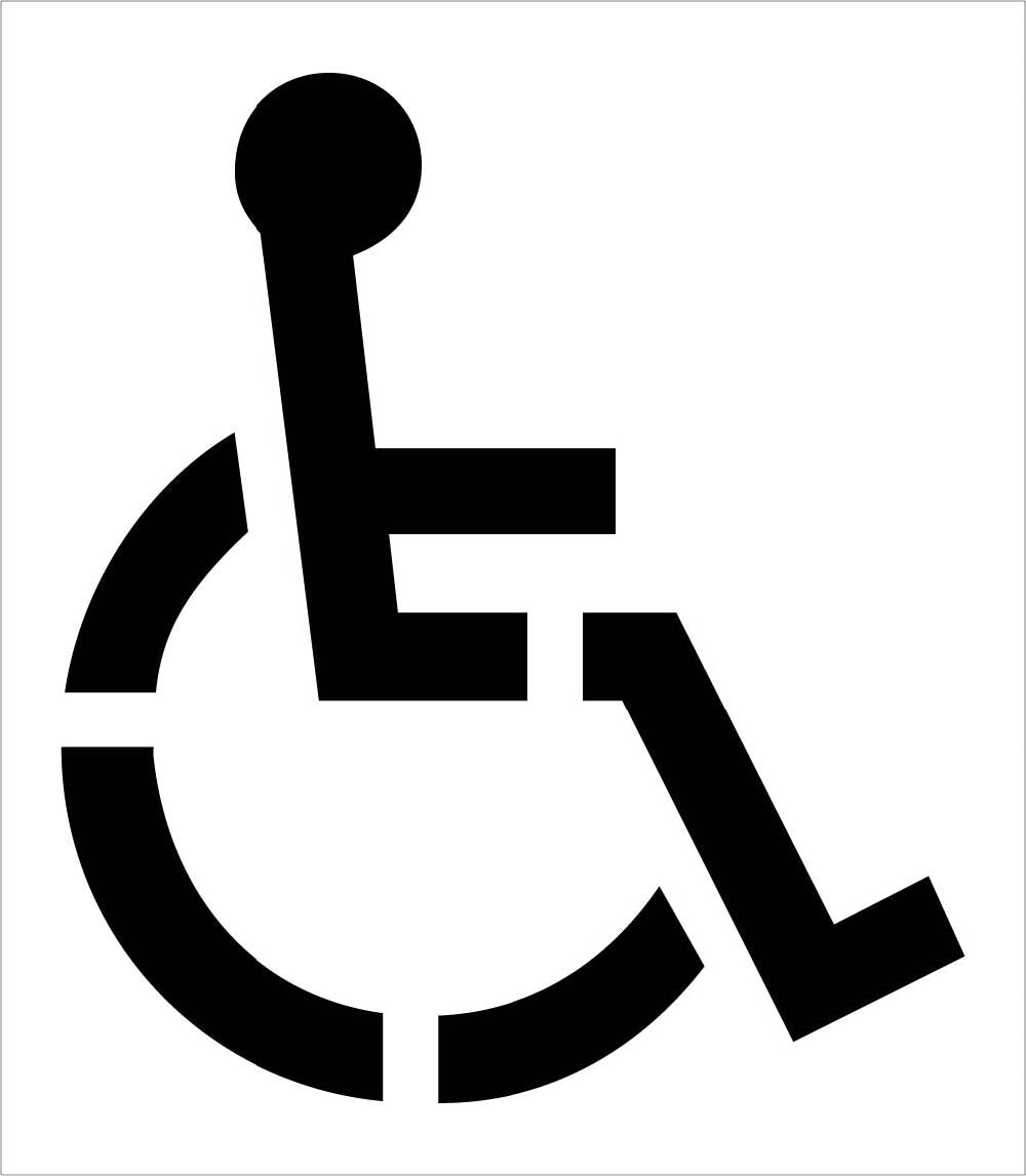 Handicap Symbol Parking Lot Stencil