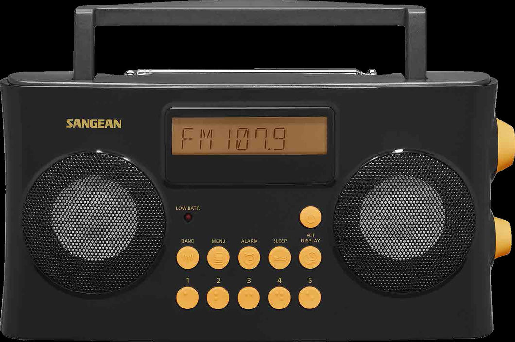 Sangean-PR-D17 AM / FM-RDS Portable Radio Specially Designed for the Visually Impaired with Helpful Guided Voice Prompts