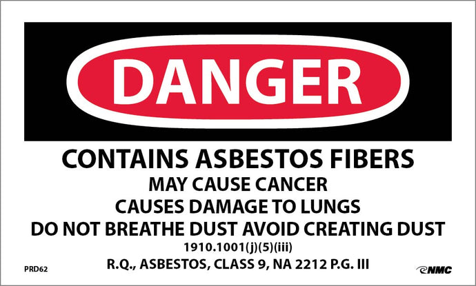 Asbestos Warning Label - Roll