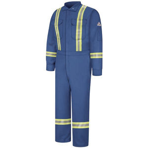 Bulwark Men's Premium Long Coverall With Reflective Trim - Excel Fr Comfortouch