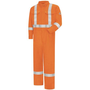 Bulwark Men's Regular Premium Coverall With 3M Silver Csa Compliant Reflective Trim, 7Oz - Excel Fr Comfortouch