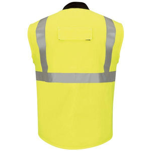 Bulwark Men's Hi Vis Insulated Long Vest With Reflective Trim - Cooltouch 2
