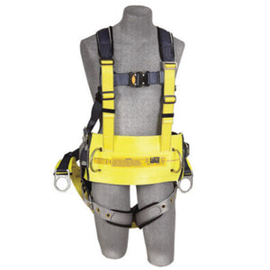 "3M DBI-SALA 2X ExoFit Derrick Full Body/Vest Style Harness With Back D-Ring with 18"" Extension Suspension, Tongue Leg Strap Buckle, Quick Connect Chest Strap Buckle, Seat Sling With Positioning D-Ring, Built-In Comfort Padding And Body Belt With Pad"