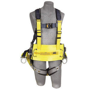 3M DBI-SALA X-Large ExoFit Full Body/Vest/Iron Worker Style Harness With Back And Side D-Ring, Tongue Leg Strap Buckle, Quick Connect Chest Strap Buckle, Built-In Comfort Padding, Reinforced Seat Strap, Belt With Pad And Integrated Tool/Gear Loops