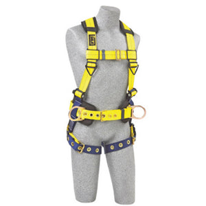 3M DBI-SALA Large Delta II No-Tangle Construction/Full Body Style Harness With Back And Side D-Ring, XL Tongue Leg Strap Buckle, Shoulder And Back Pads, Adjustable Chest Strap And Parachute Buckles On Lower Shoulder Straps