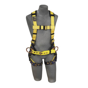 3M DBI-SALA 2X Delta II No-Tangle Construction/Full Body/Vest Style Harness With Back D-Ring And Tongue Leg Strap Buckle