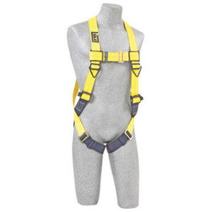3M DBI-SALA 3X Delta No-Tangle Full Body/Vest Style Harness With Back D-Ring And Pass-Thru Leg Strap Buckle