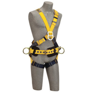 3M DBI-SALA Medium Delta No-Tangle Construction/Cross Over/Full Body Style Harness With Back, Front And Side D-Ring, Body Belt With Pad And Pass-Thru Leg Strap Buckle