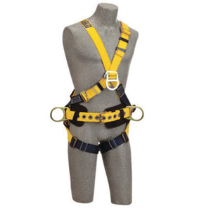 3M DBI-SALA Large Delta No-Tangle Construction/Cross Over/Full Body Style Harness With Back, Front And Side D-Ring, Body Belt With Pad And Pass-Thru Leg Strap Buckle