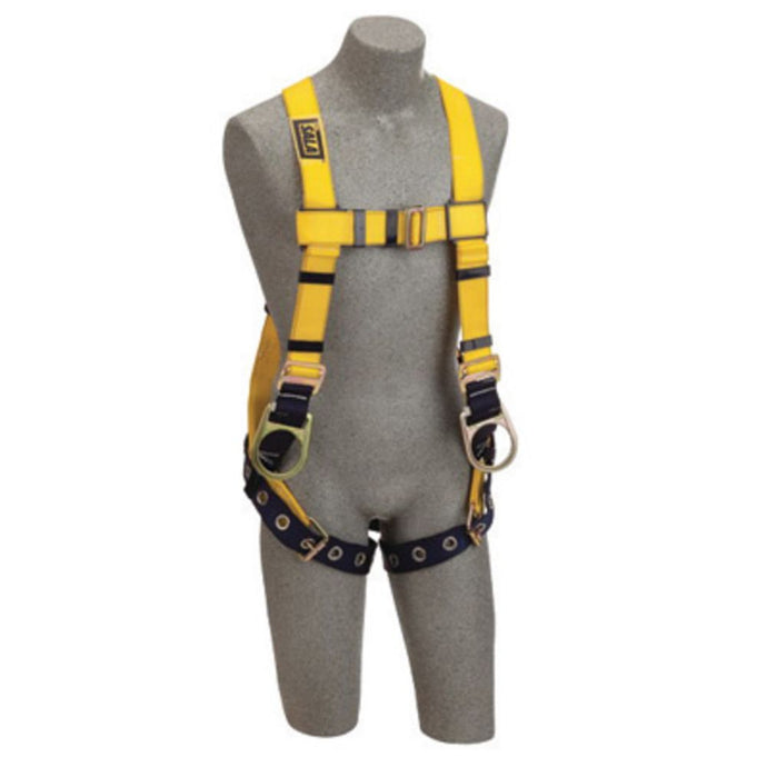 3M DBI-SALA X-Small Delta Positioning Construction Style Harness With Back And Side D-Rings, Tongue Buckle Leg Strap, Loops For Belt And Impact Indicator