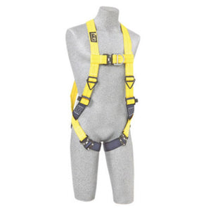 3M DBI-SALA Universal Delta No-Tangle Full Body/Vest Style Harness with Back and Front D-Ring and Quick Connect Leg Strap Buckle