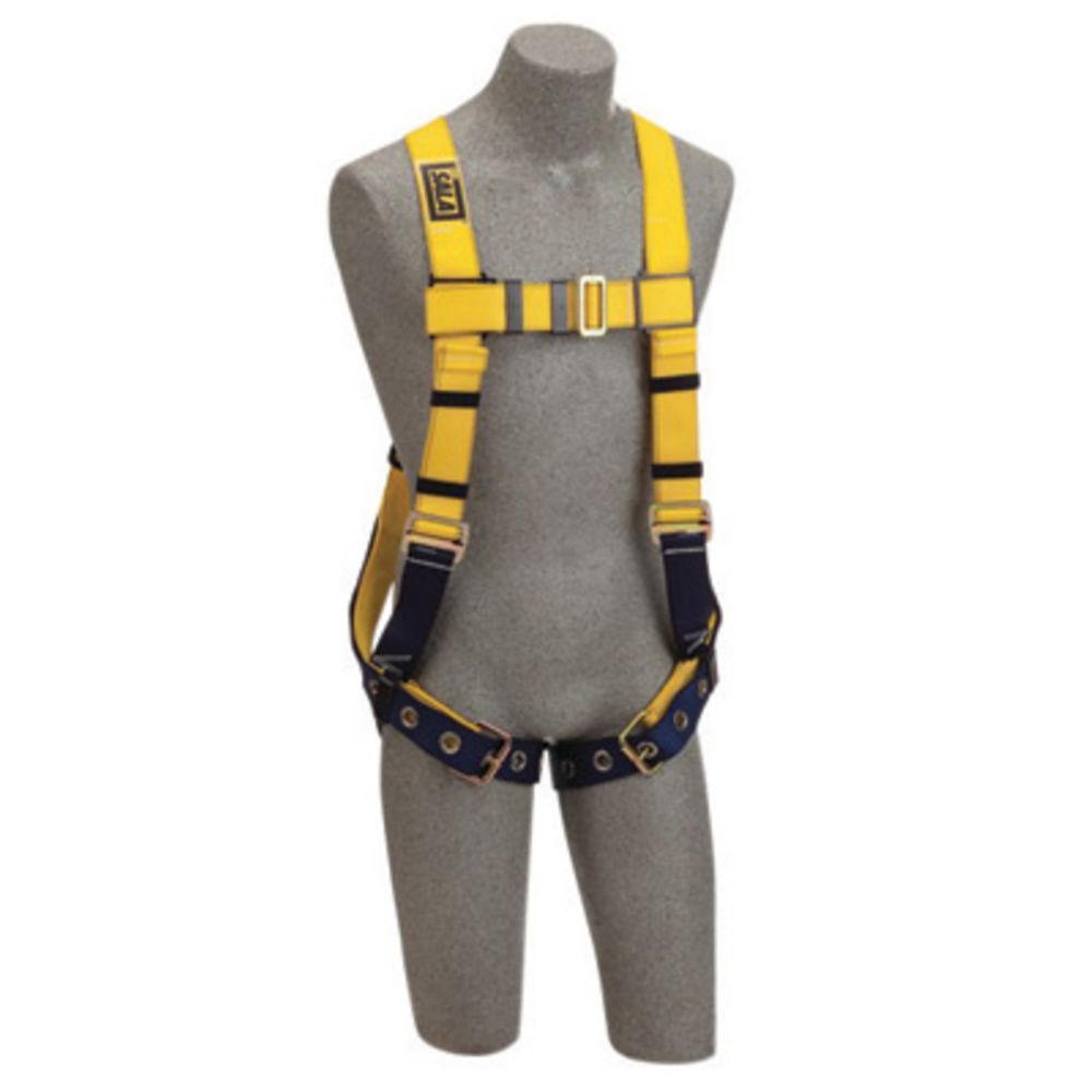3M DBI-SALA Universal Delta No-Tangle Construction/Full Body/Vest Style Harness With Back D-Ring, Tongue Leg Strap Buckle And Loops For Belt