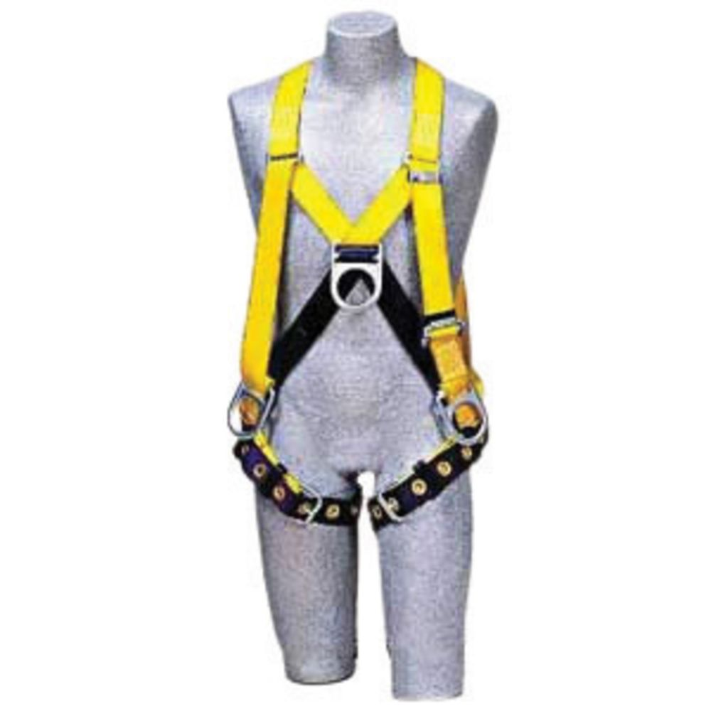 3M DBI-SALA Small Delta II No-Tangle Full Body/Step-In Style Harness With Back, Front And Side D-Ring And Tongue Leg Strap Buckle