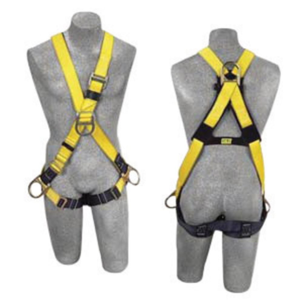 3M DBI-SALA Universal Delta No-Tangle Cross Over/Full Body Style Harness With Back, Front And Side D-Ring, Pass-Thru Leg Strap Buckle And Comfort Padding