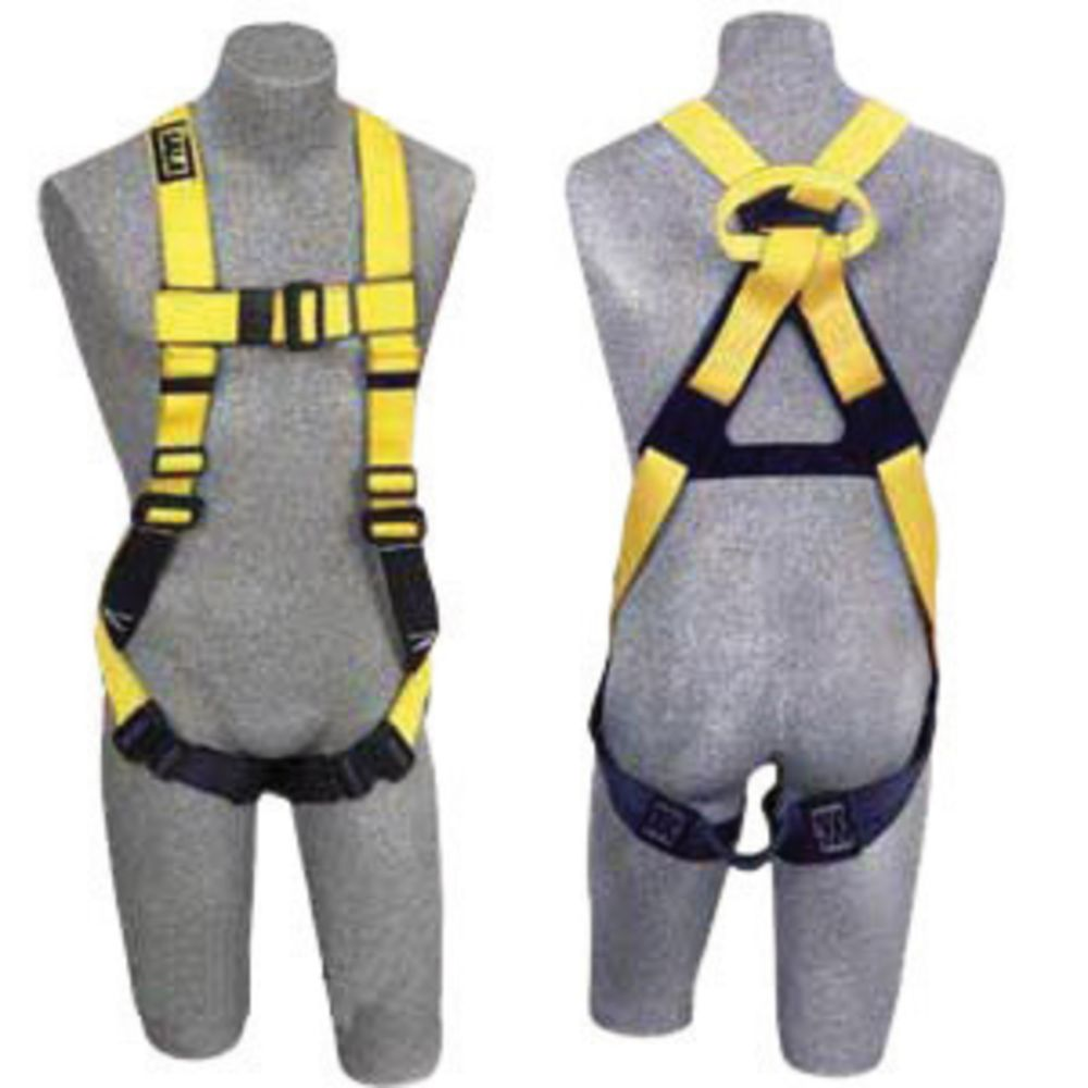3M DBI-SALA 2X Full Body/Vest Style Harness With Non-Slip Chest Strap, Parachute Buckle, Pass- Thru Buckle Leg Straps, Non-Conductive/Non-Spark PVC Coated Hardware And Web Loop On Back