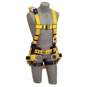 "3M DBI-SALA 3X Delta Derrick No-Tangle Full Body/Vest Style Harness With Back D-Ring With 18"" Extension, Belt With Pad, Seat Sling With Positioning D-Ring And Tongue Leg Strap Buckle"