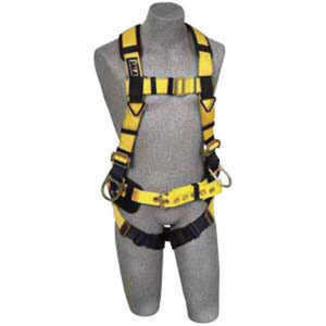 3M DBI-SALA Small Delta II Iron Worker's Harness With Back And Side D-Rings, Pass Thru Buckle Leg Strap, Belt With Adjustable Support Straps, Pad And Shoulder Pads And Accessory Clips