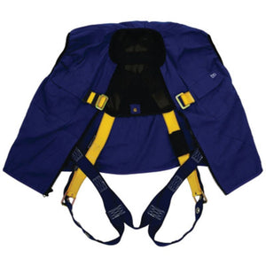 3M DBI-SALA Universal Delta No-Tangle Full Body/Workvest Style Blue Harness With Back D-Ring And Tongue Leg Strap Buckle