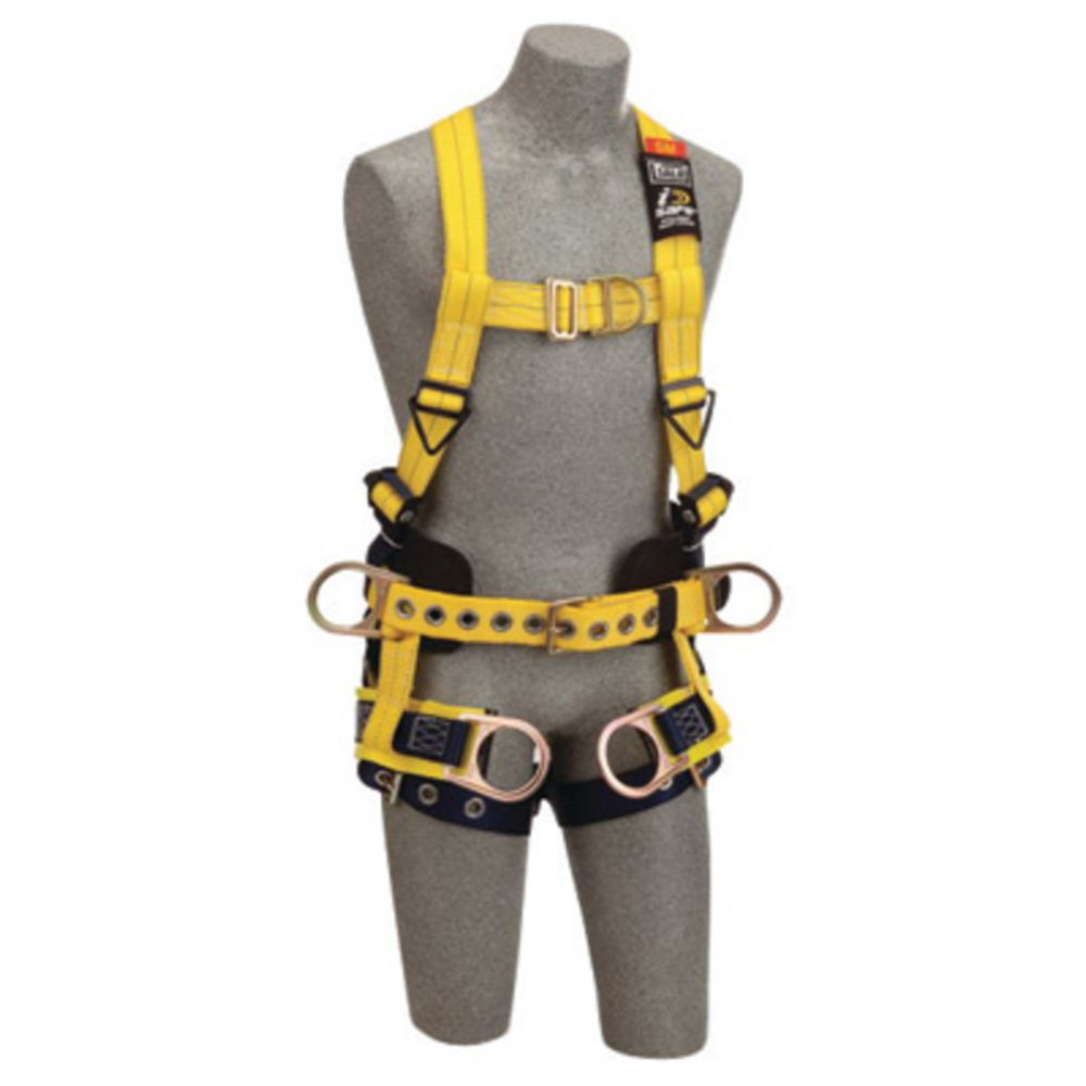 3M DBI-SALA X-Large Delta No-Tangle Full Body/Vest Style Harness With Back, Front And Side D-Ring, Tongue Leg Strap Buckle, Belt With Pad, Seat Sling With Positioning D-Ring And 2 Tool/Pouch D-Ring