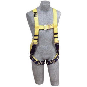 3M DBI-SALA Medium Delta No-Tangle Construction/Vest Style Harness With Back, Side And Front D-Ring, Tongue Leg Strap Buckle And Belt With Pad
