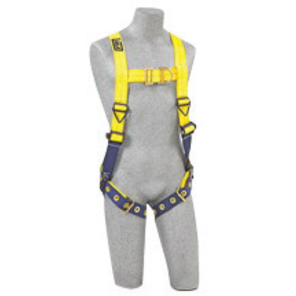 3M DBI-SALA Small Delta No-Tangle Construction/Full Body/Vest Style Harness With Back And Front D-Ring And Tongue Leg Strap Buckle