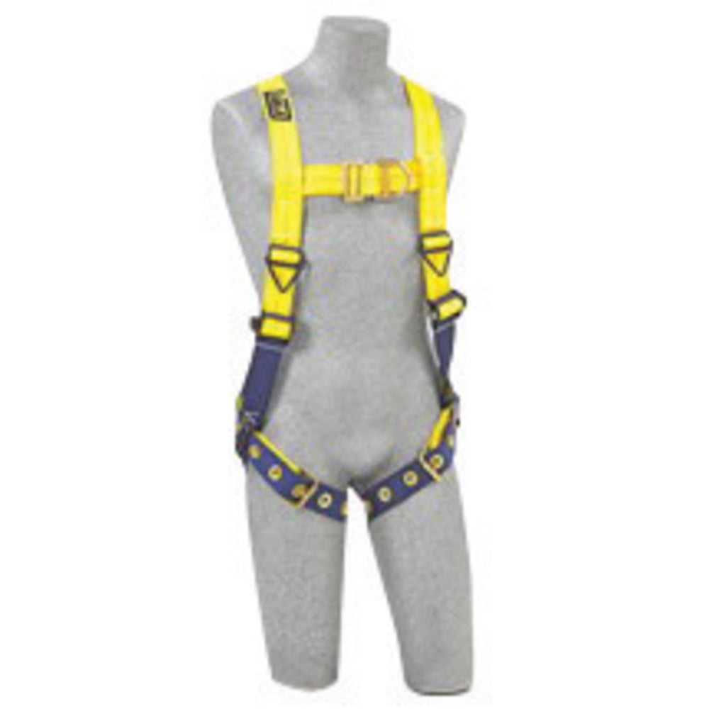 3M DBI-SALA Medium Delta No-Tangle Construction/Full Body/Vest Style Harness With Back And Front D-Ring And Tongue Leg Strap Buckle