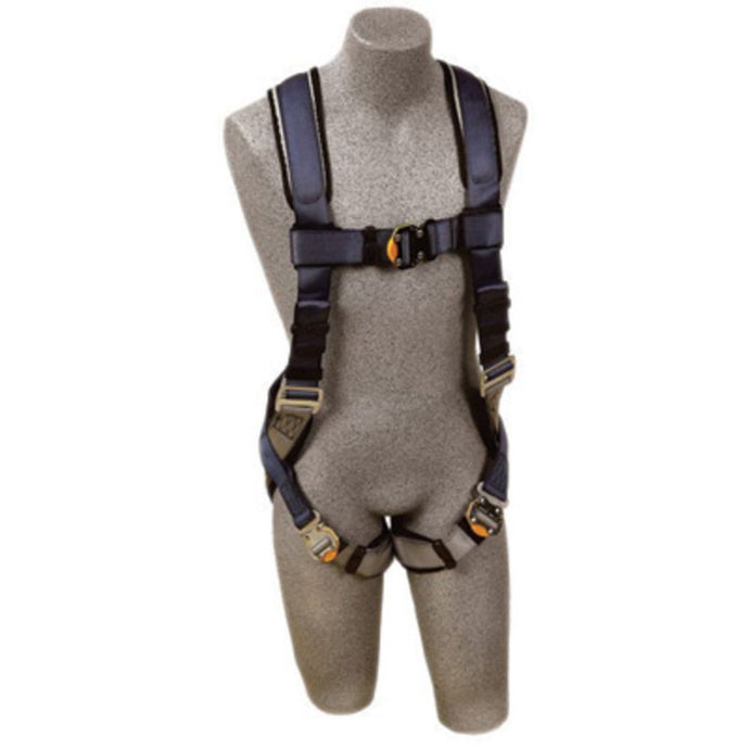 3M DBI-SALA ExoFit Full Body/Vest Style Harness With Back D-Ring, Quick Connect Chest And Leg Strap Buckle, Loops For Body Belt And Built-In Comfort Padding