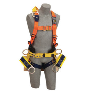 "3M DBI-SALA Small Delta No-Tangle Full Body/Vest Style Harness With Back, Side And Front D-Ring With 18"" Extension, Tongue Leg Strap Buckle, Seat Sling With Rigid Board And Positioning D-Ring And Belt With Pad"