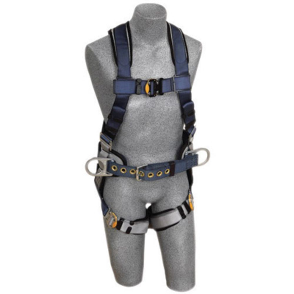 3M DBI-SALA X-Small ExoFit Construction/Full Body/Vest Style Harness With Back And Side D-Ring, Belt With Sewn-In Pad, Quick Connect Chest And Leg Strap Buckle And Built-In Comfort Padding