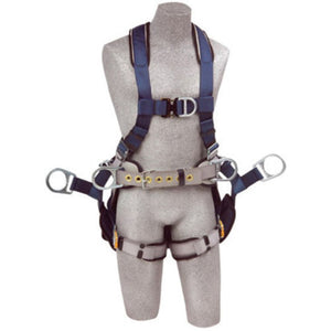 3M DBI-SALA Small ExoFit Full Body/Vest Style Harness With Back, Side And Front D-Ring, Belt With Pad, Seat Sling With Suspension D-Ring, Quick Connect Chest And Leg Strap Buckle And Built-In Comfort Padding