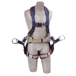 3M DBI-SALA 2X ExoFit Full Body/Vest Style Harness With Back, Side And Front D-Ring, Belt With Pad, Seat Sling With Suspension D-Ring, Quick Connect Chest And Leg Strap Buckle And Built-In Comfort Padding