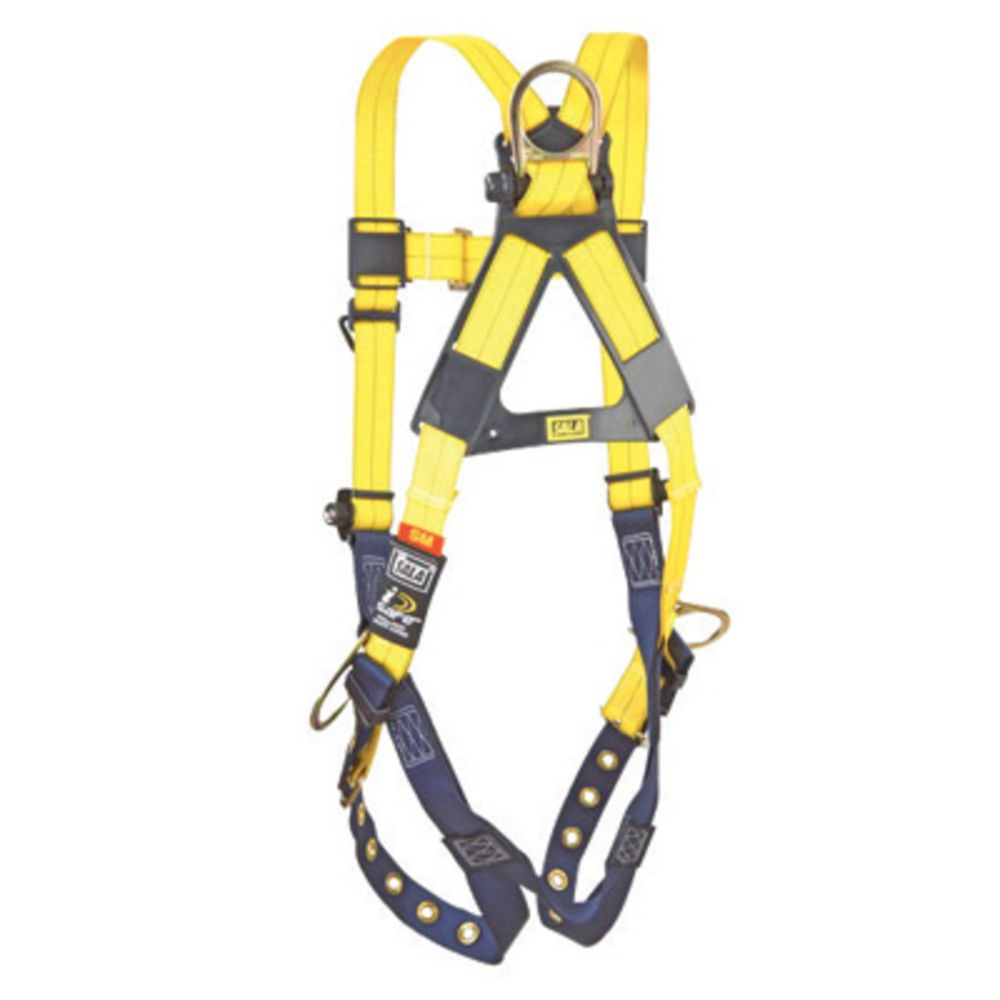 3M DBI-SALA Large ExoFit XP Arc Flash Full Body/Vest Style Harness With PVC Coated Back, Front And Side D-Ring, Quick Connect Buckle And Leather Insulators