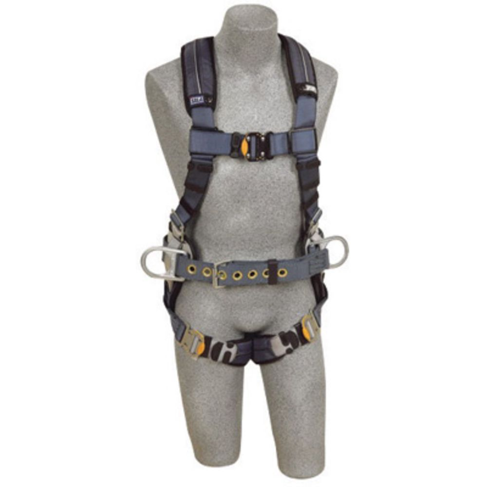 3M DBI-SALA Small ExoFit XP Construction/Full Body/Vest Style Harness With Back And Side D-Ring, Belt With Pad, Quick Connect Chest And Leg Strap Buckle And Removable Comfort Padding