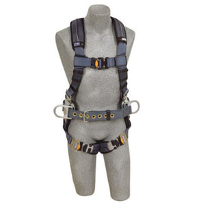 3M DBI-SALA 2X ExoFit XP Construction/Full Body/Vest Style Harness With Back And Side D-Ring, Belt With Pad, Quick Connect Chest And Leg Strap Buckle And Removable Comfort Padding