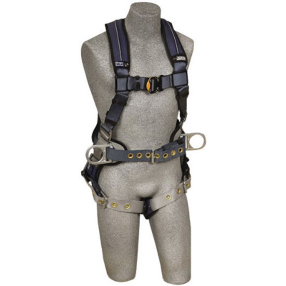 3M DBI-SALA Medium ExoFit XP Construction/Full Body Style Harness With Back And Side D-Ring, Belt With Pad, Tongue Leg Strap Buckle And Removable Comfort Padding