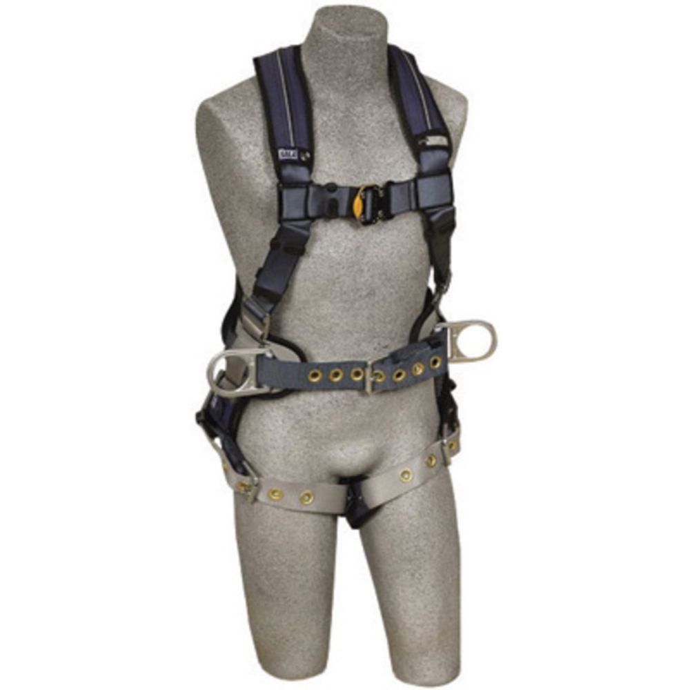 3M DBI-SALA Large ExoFit XP Construction/Full Body Style Harness With Back And Side D-Ring, Belt With Pad, Tongue Leg Strap Buckle And Removable Comfort Padding