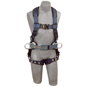 3M DBI-SALA Medium ExoFit Construction/Full Body/Vest Style Harness With Back And Side D-Ring, Belt With Pad, Quick Connect Chest Strap Buckle, Tongue Leg Strap Buckle And Built-In Comfort Padding