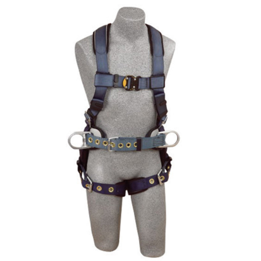 3M DBI-SALA 2X ExoFit Construction/Full Body/Vest Style Harness With Back And Side D-Ring, Belt With Pad, Quick Connect Chest Strap Buckle, Tongue Leg Strap Buckle And Built-In Comfort Padding