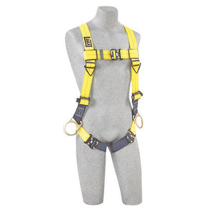 3M DBI-SALA Universal Delta No-Tangle Full Body/Vest Style Harness With Back And Side D-Ring, Tech-Lite Quick Connect Leg Strap Buckle